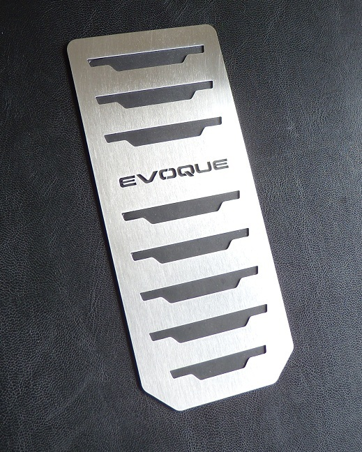 BRUSHED STAINLESS STEEL FOOTREST COVER RANGE ROVER EVOQUE ED4 SD4 SD SPORT TD4